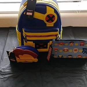 Loungefly Marvel X-Men Cyclops Set NWT